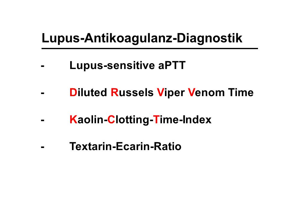 Lupus-Antikoagulanz-Diagnostik