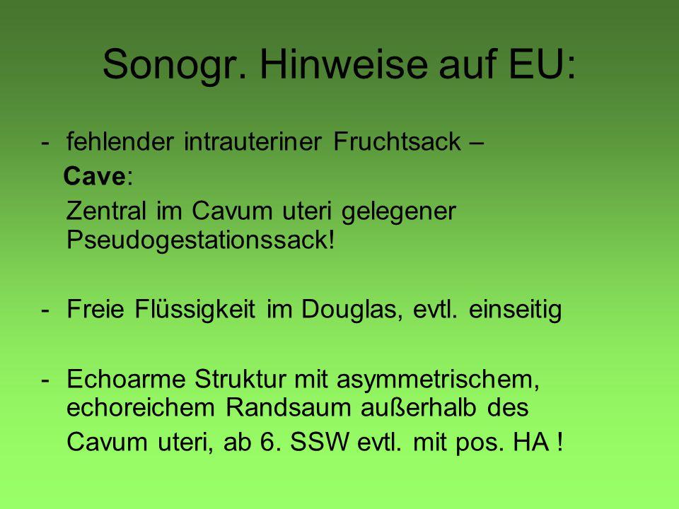 Sonogr. Hinweise auf EU: