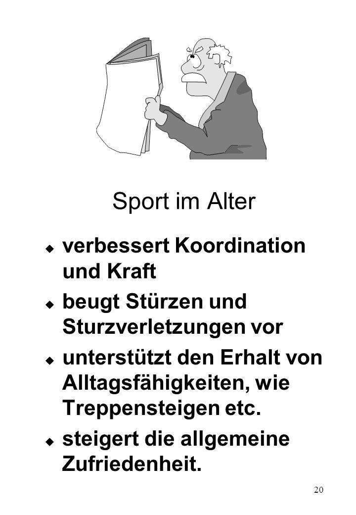 Sport im Alter verbessert Koordination und Kraft