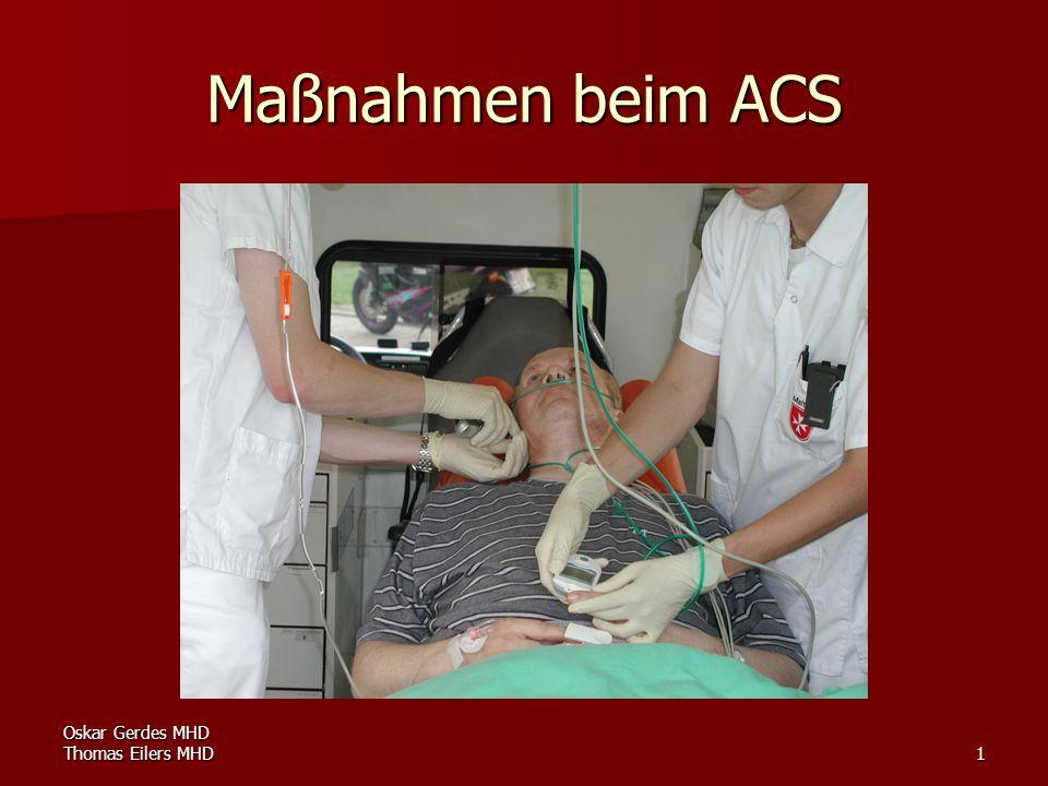 Maßnahmen beim ACS Oskar Gerdes MHD Thomas Eilers MHD