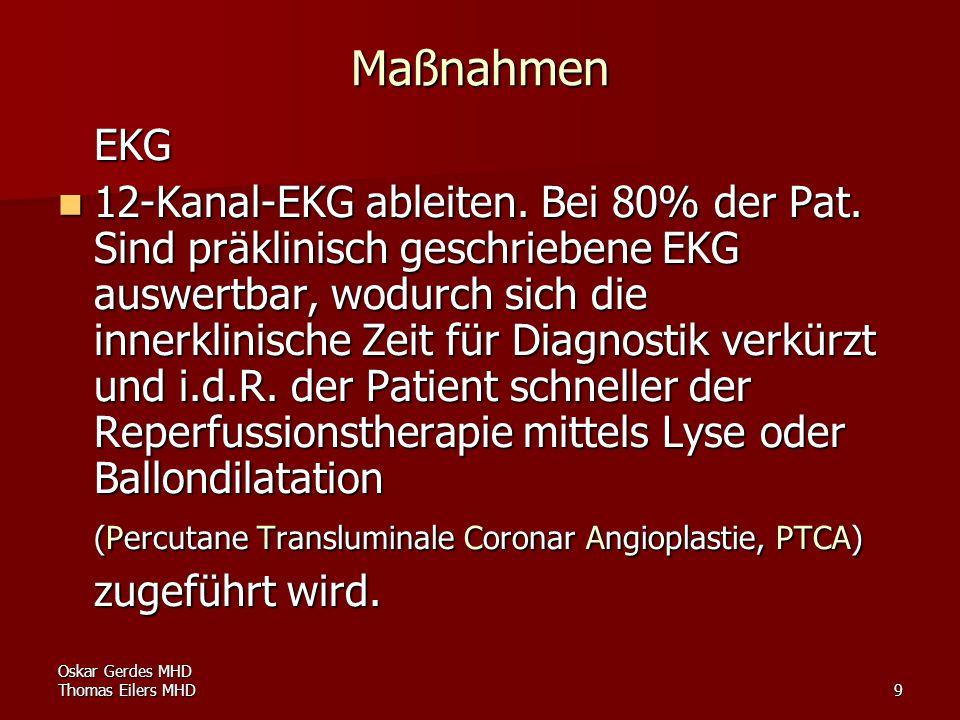 Maßnahmen EKG.
