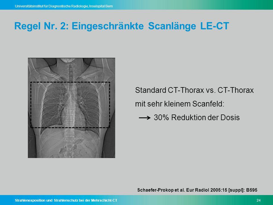 Regel Nr. 2: Eingeschränkte Scanlänge LE-CT