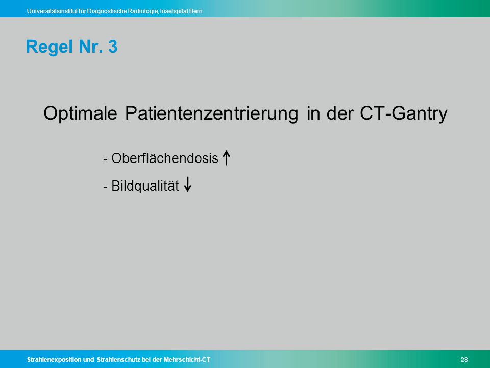 Optimale Patientenzentrierung in der CT-Gantry