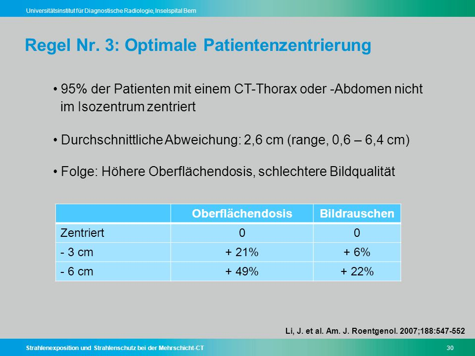 Regel Nr. 3: Optimale Patientenzentrierung