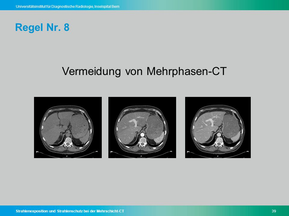 Vermeidung von Mehrphasen-CT