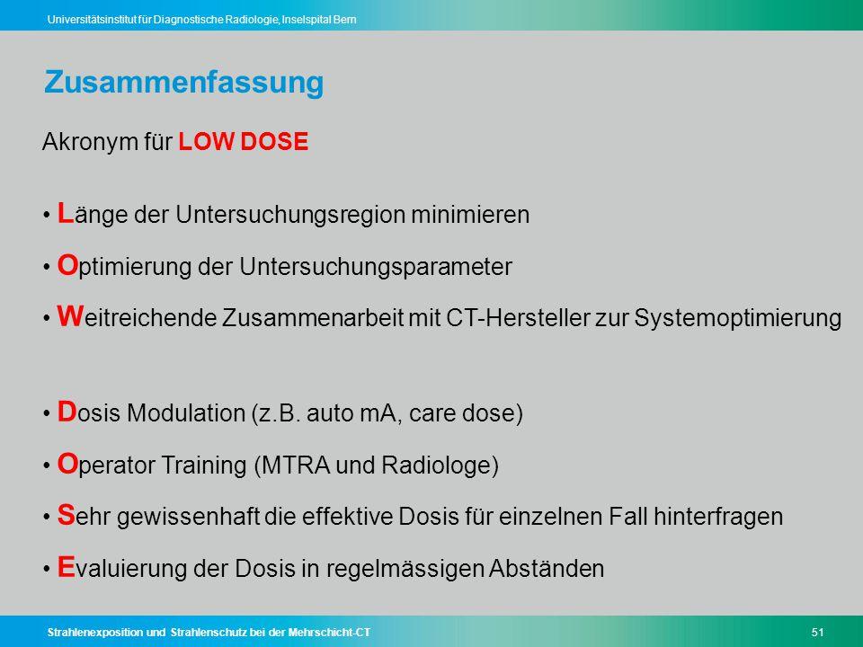 Zusammenfassung Akronym für LOW DOSE