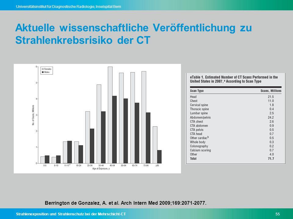 Aktuelle wissenschaftliche Veröffentlichung zu Strahlenkrebsrisiko der CT