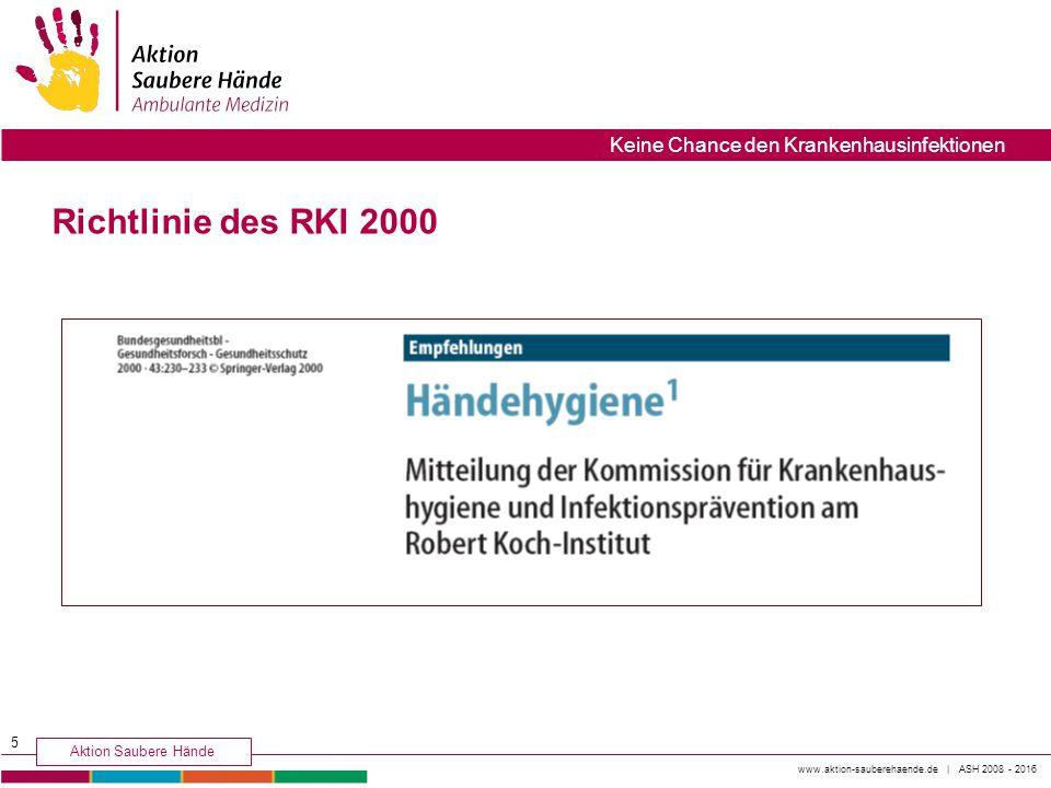 Richtlinie des RKI 2000 5
