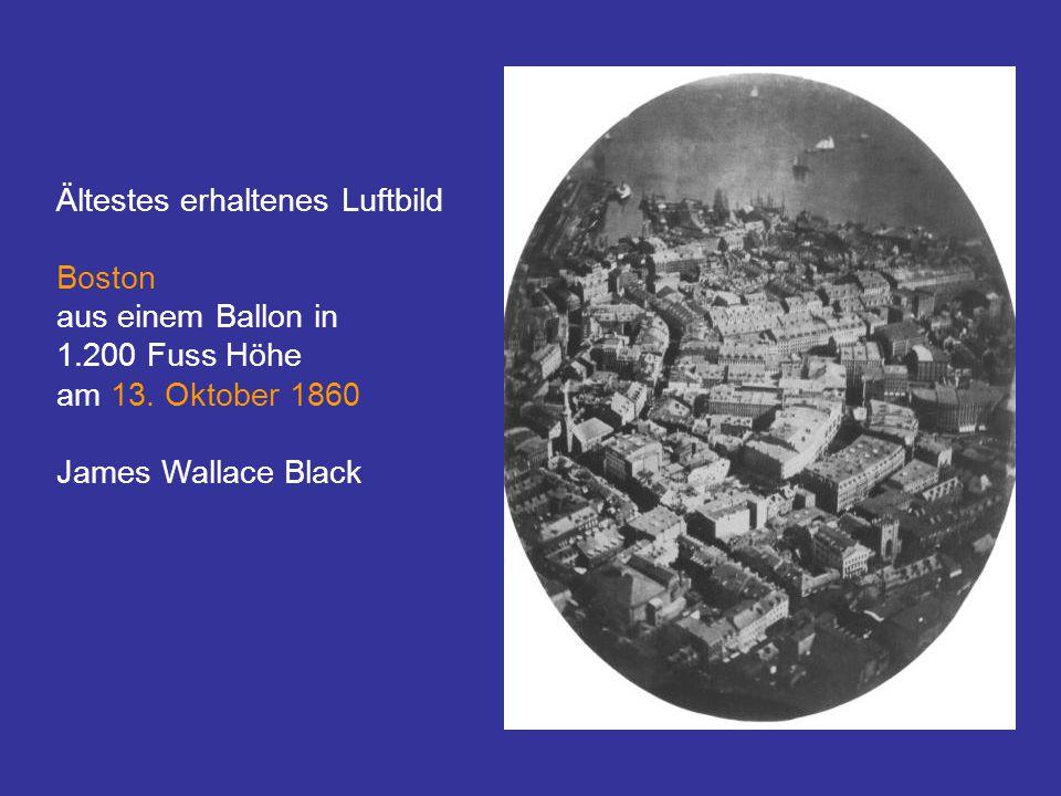 Ältestes erhaltenes Luftbild Boston aus einem Ballon in 1