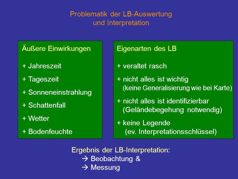 Problematik der LB-Auswertung und Interpretation