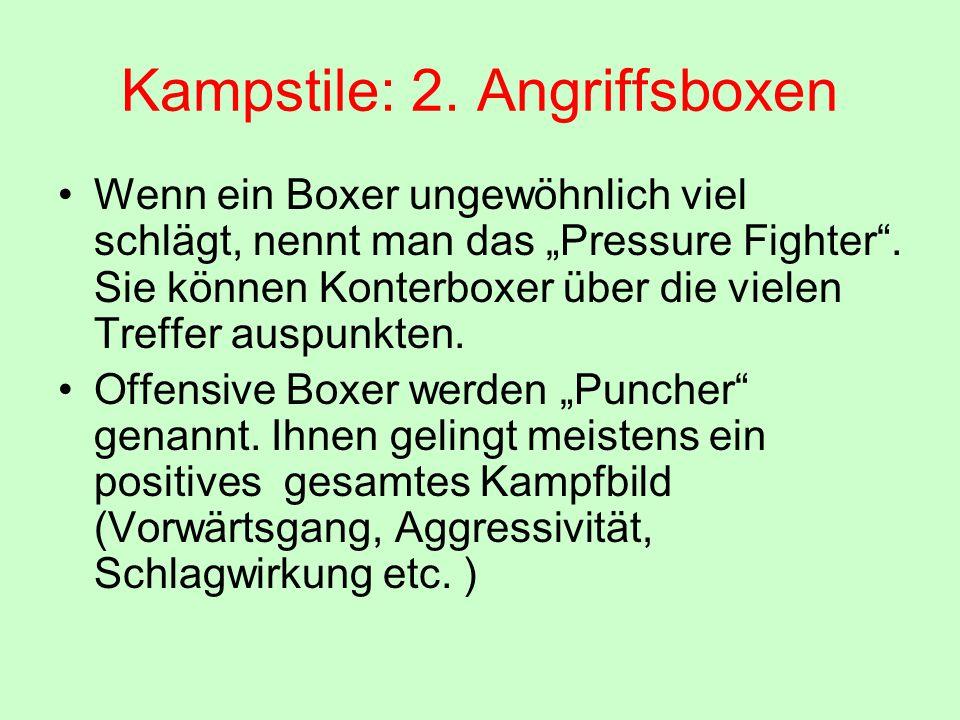 Kampstile: 2. Angriffsboxen