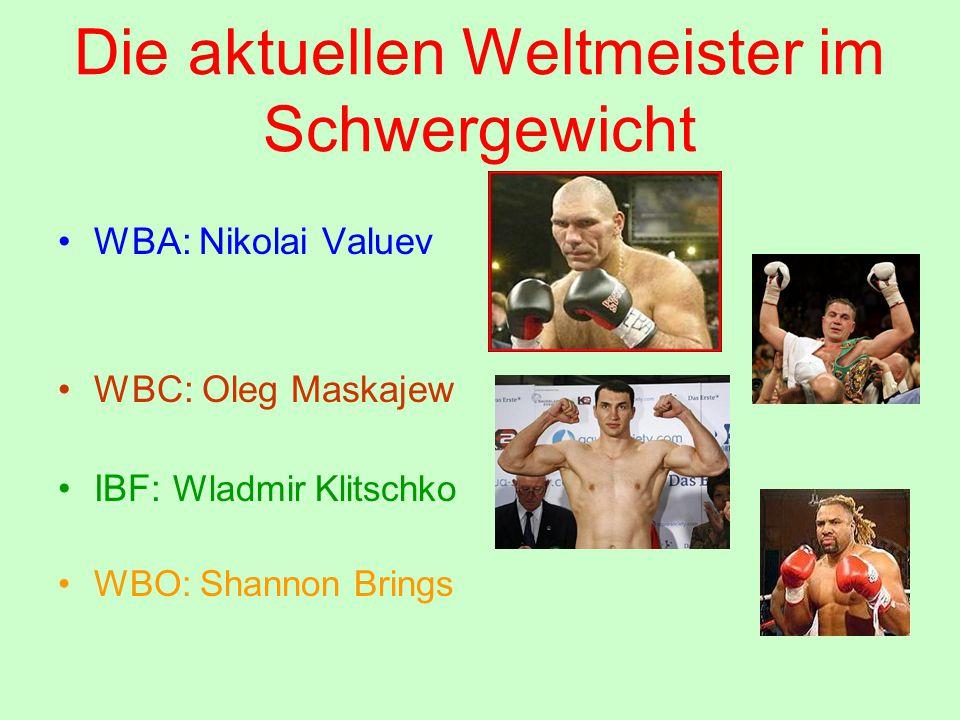 Die aktuellen Weltmeister im Schwergewicht