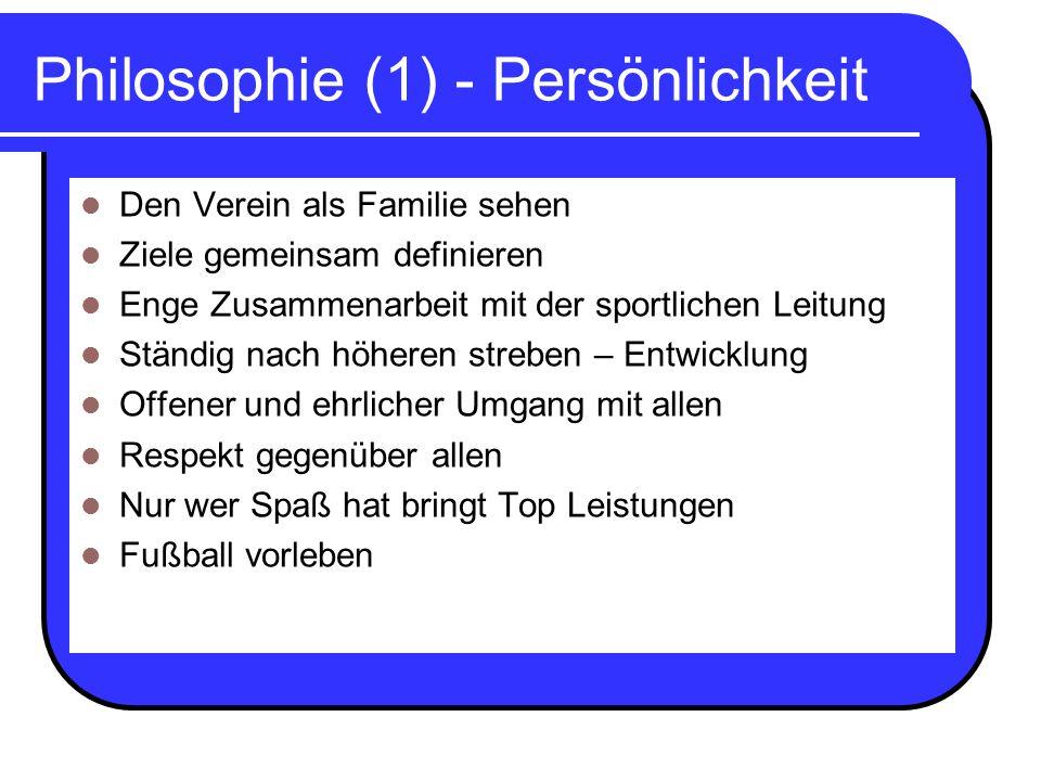 Philosophie (1) - Persönlichkeit