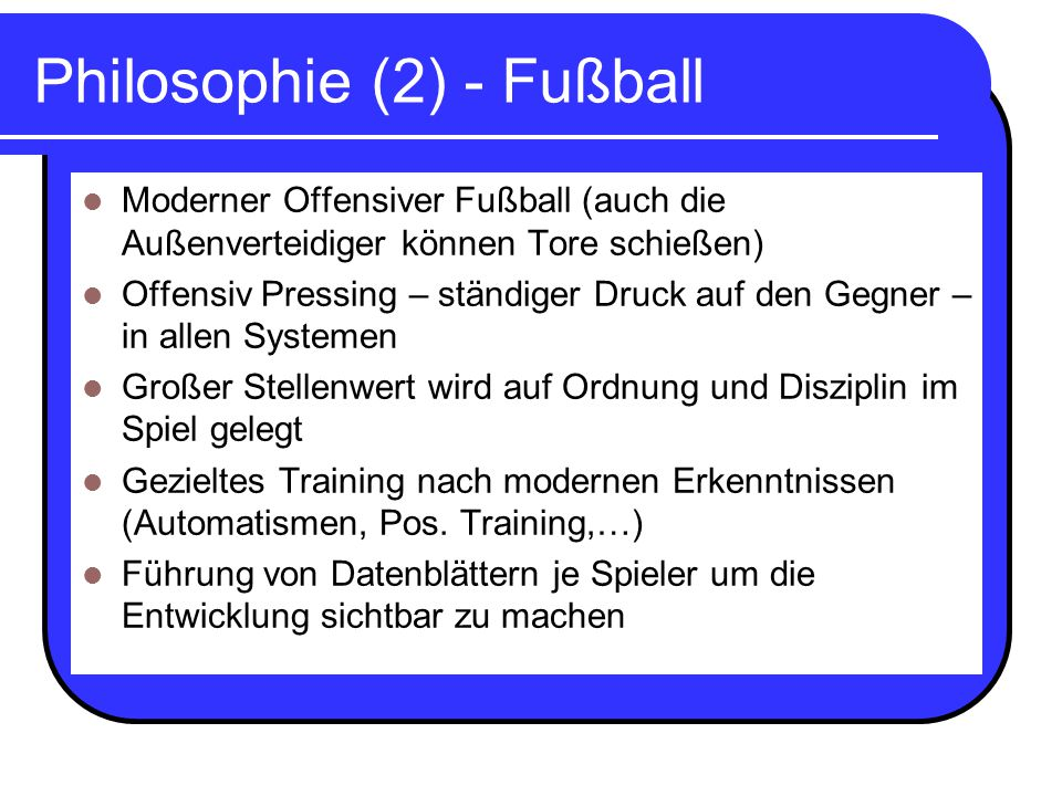 Philosophie (2) - Fußball