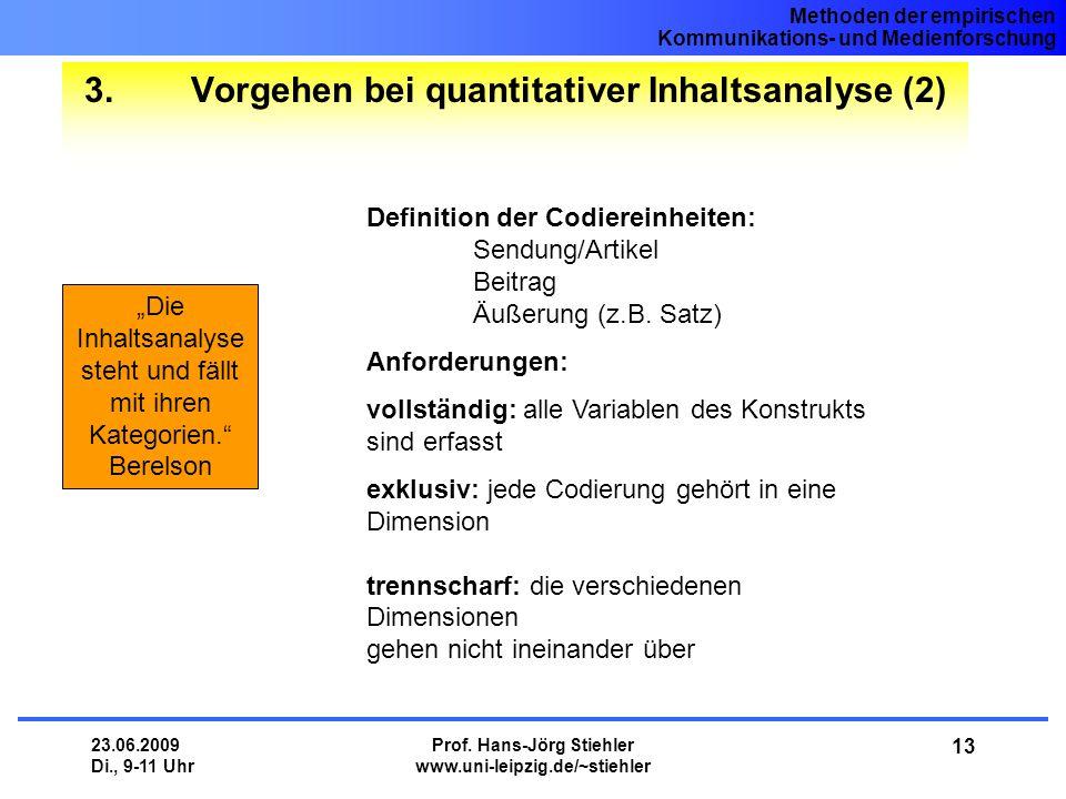 3. Vorgehen bei quantitativer Inhaltsanalyse (2)