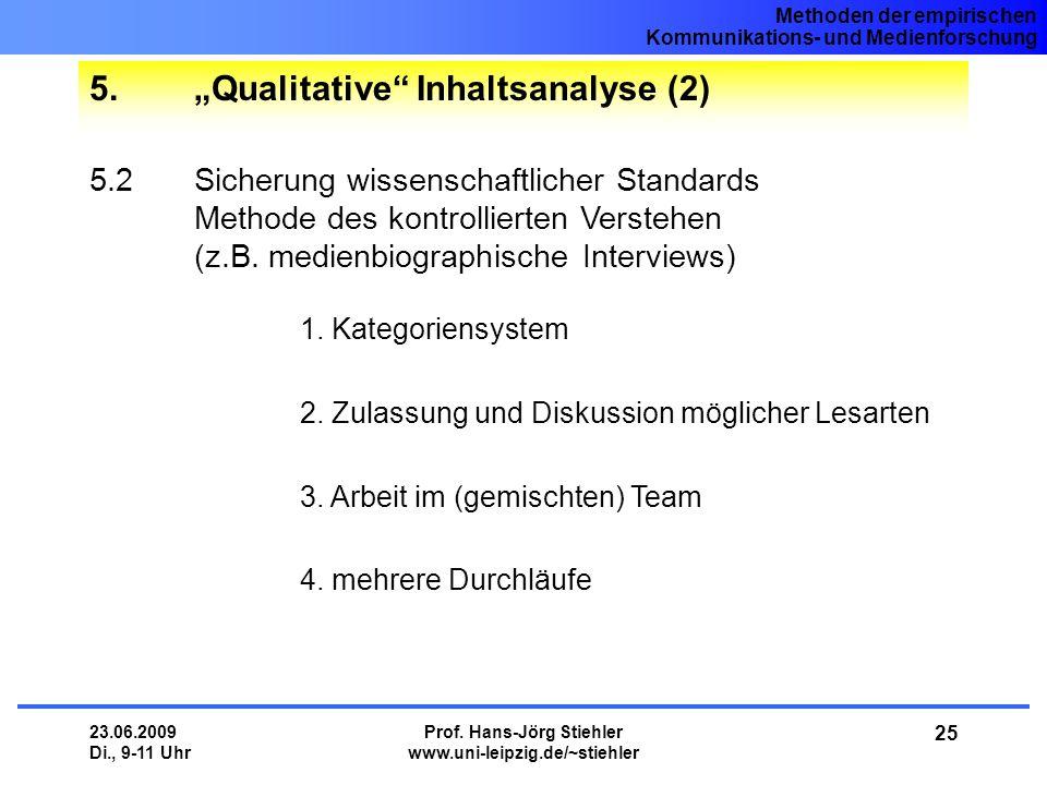 """5. """"Qualitative Inhaltsanalyse (2)"""