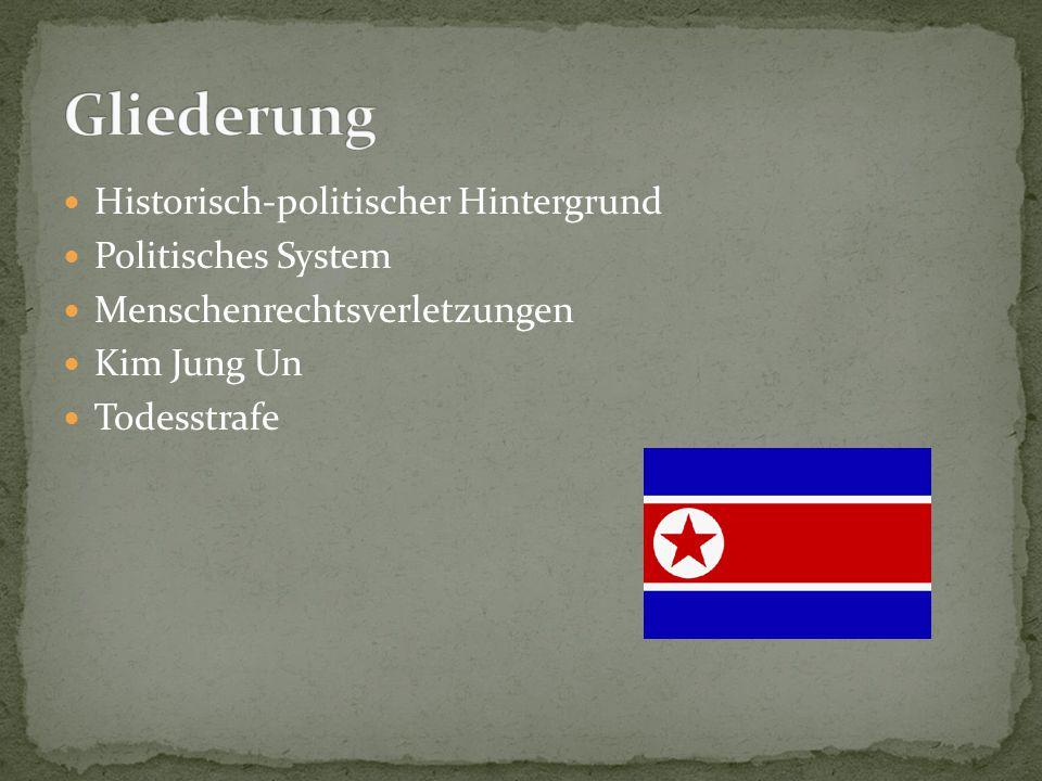 Gliederung Historisch-politischer Hintergrund Politisches System
