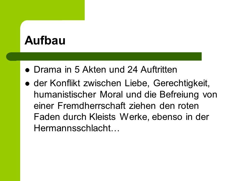 Aufbau Drama in 5 Akten und 24 Auftritten