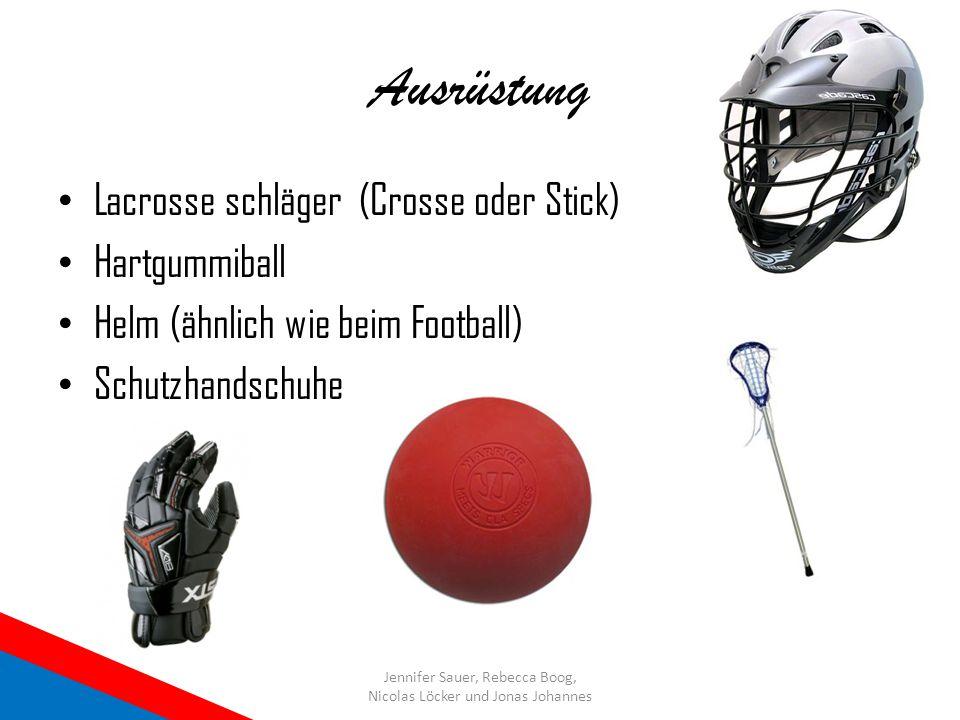 Ausrüstung Lacrosse schläger (Crosse oder Stick) Hartgummiball