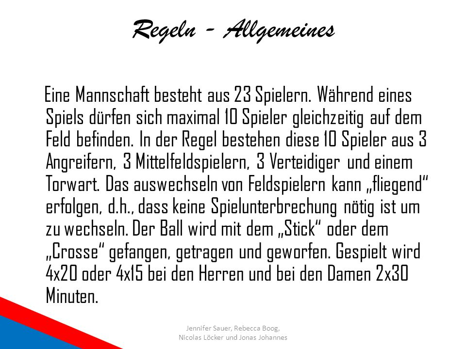 Regeln - Allgemeines