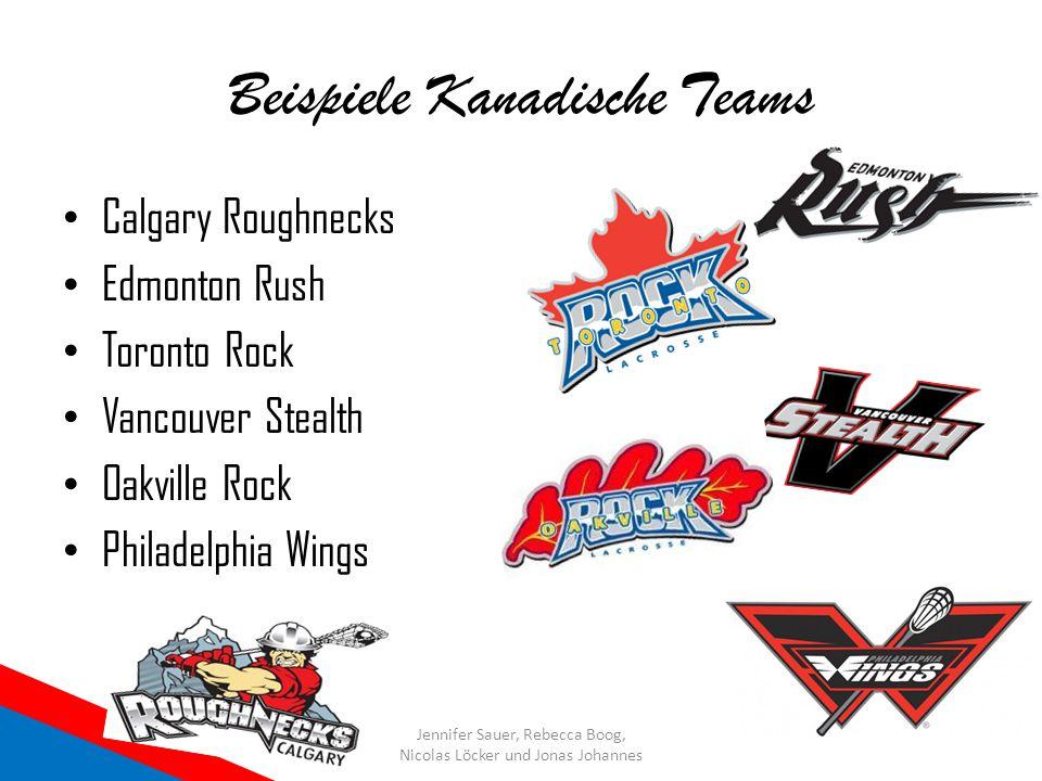 Beispiele Kanadische Teams