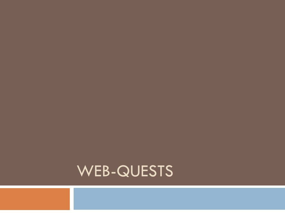 Web-Quests