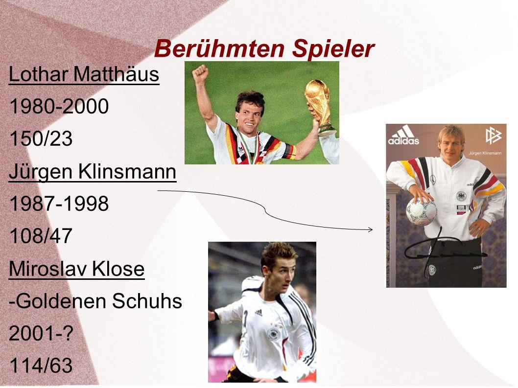 Berühmten Spieler Lothar Matthäus 1980-2000 150/23 Jürgen Klinsmann
