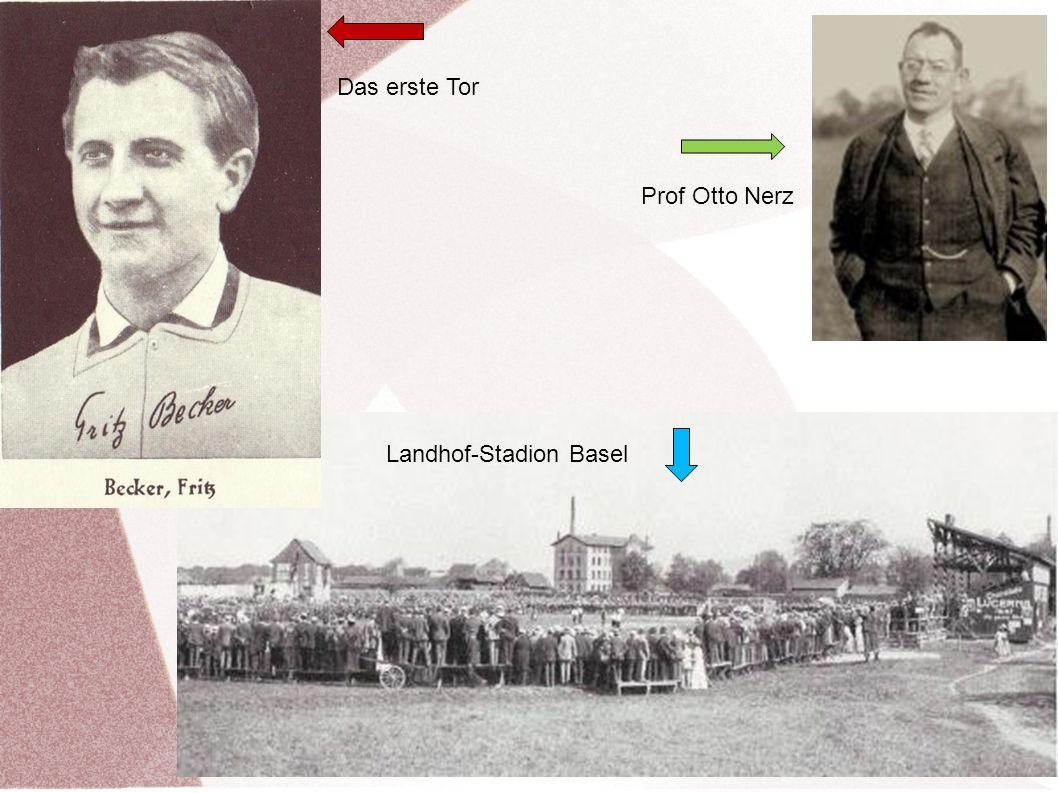 Das erste Tor Prof Otto Nerz Landhof-Stadion Basel