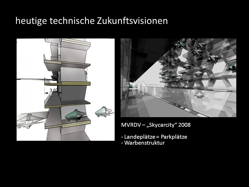 heutige technische Zukunftsvisionen