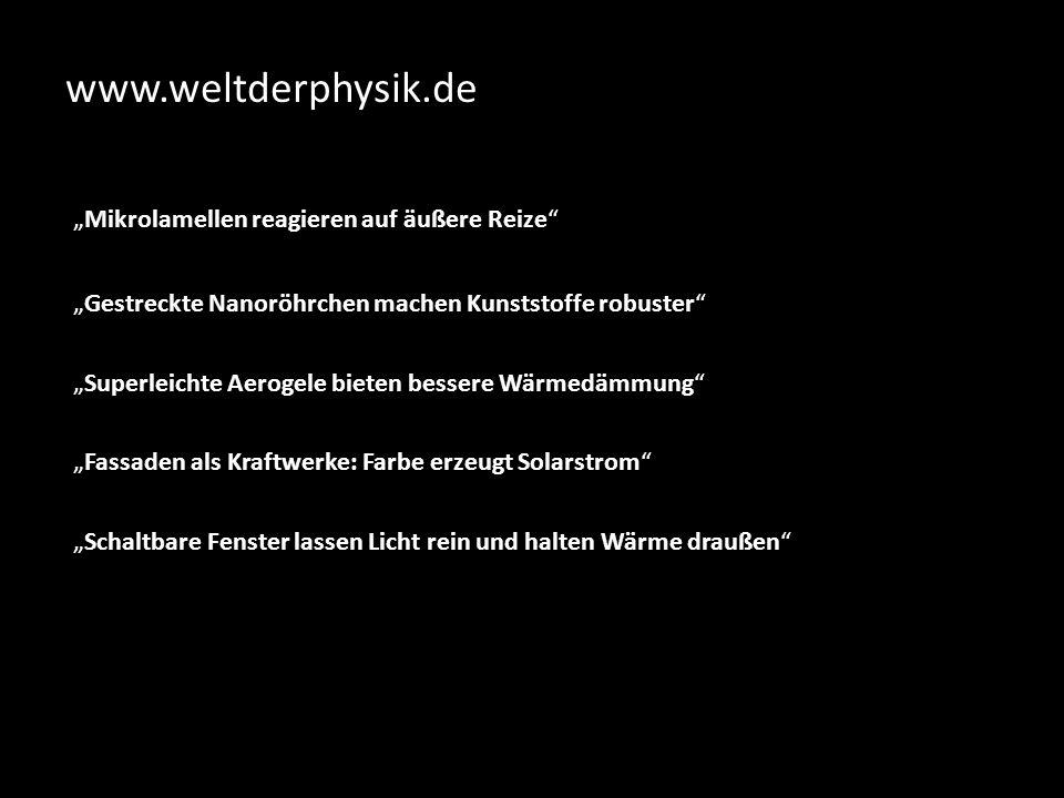 "www.weltderphysik.de ""Mikrolamellen reagieren auf äußere Reize"