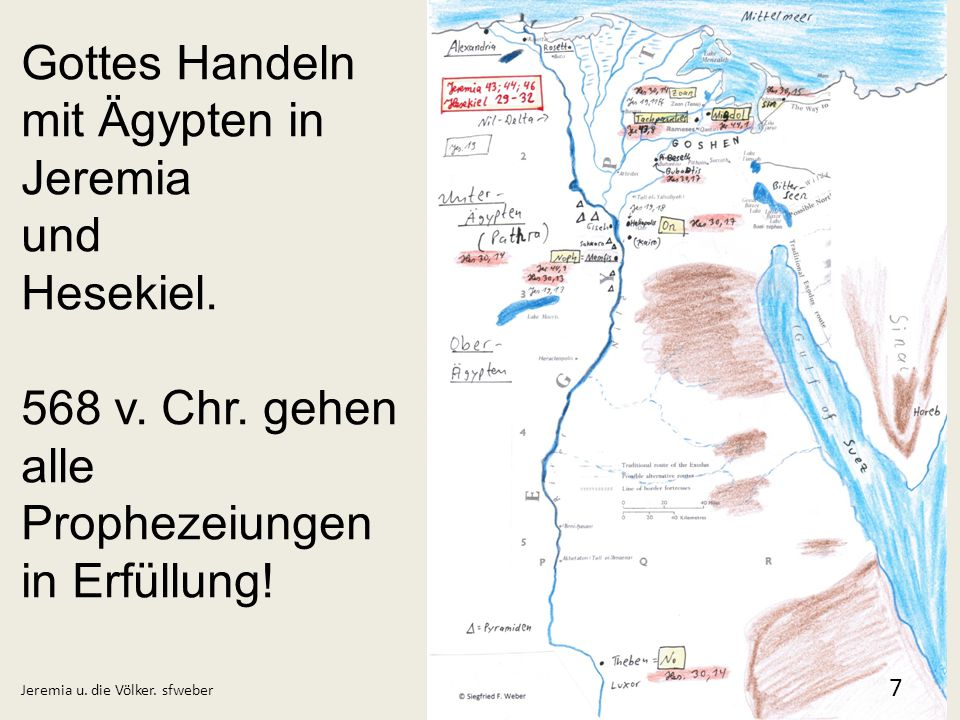 Gottes Handeln mit Ägypten in Jeremia und Hesekiel.