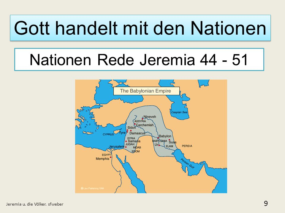Gott handelt mit den Nationen