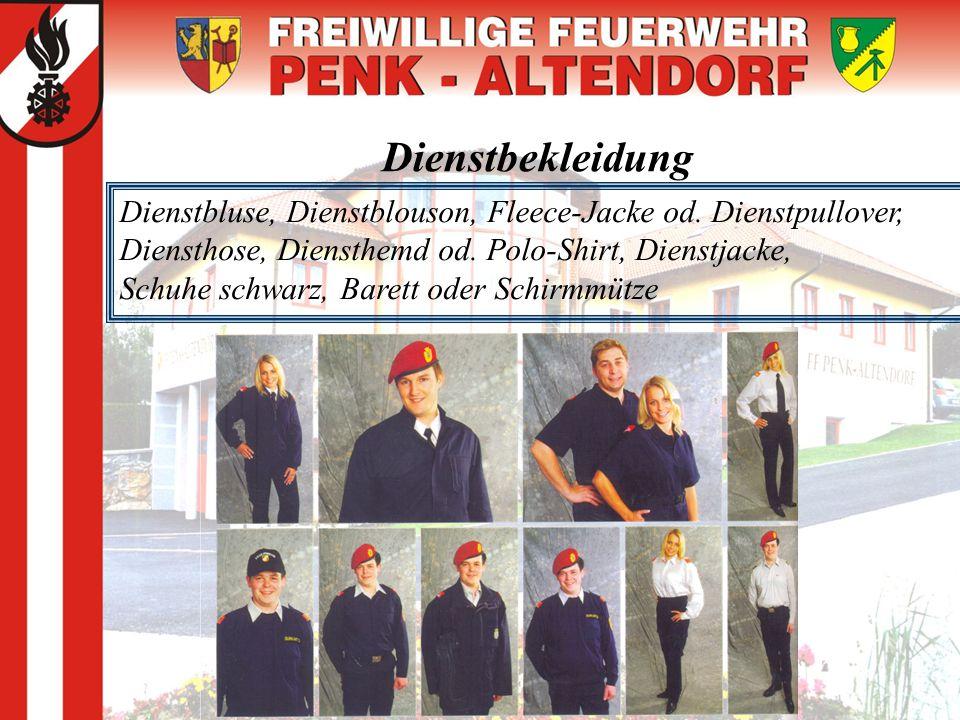 Dienstbekleidung Dienstbluse, Dienstblouson, Fleece-Jacke od. Dienstpullover, Diensthose, Diensthemd od. Polo-Shirt, Dienstjacke,