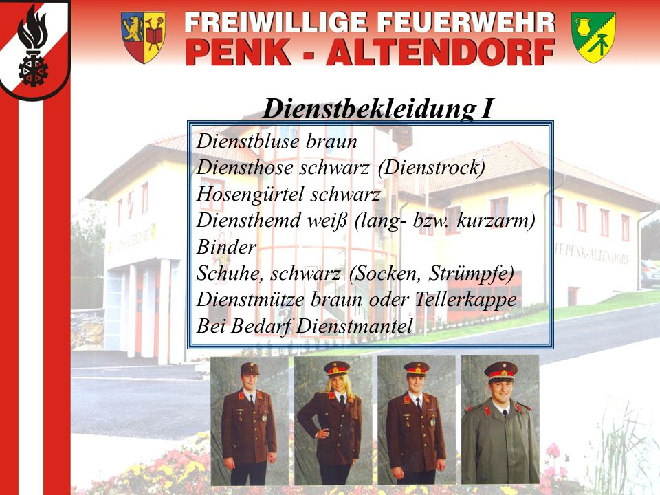 Dienstbekleidung I Dienstbluse braun Diensthose schwarz (Dienstrock)