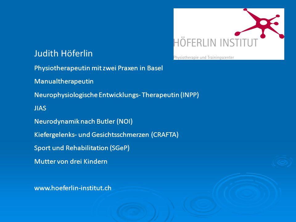 Judith Höferlin Physiotherapeutin mit zwei Praxen in Basel