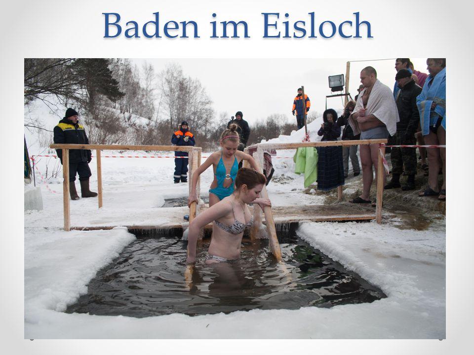 Baden im Eisloch