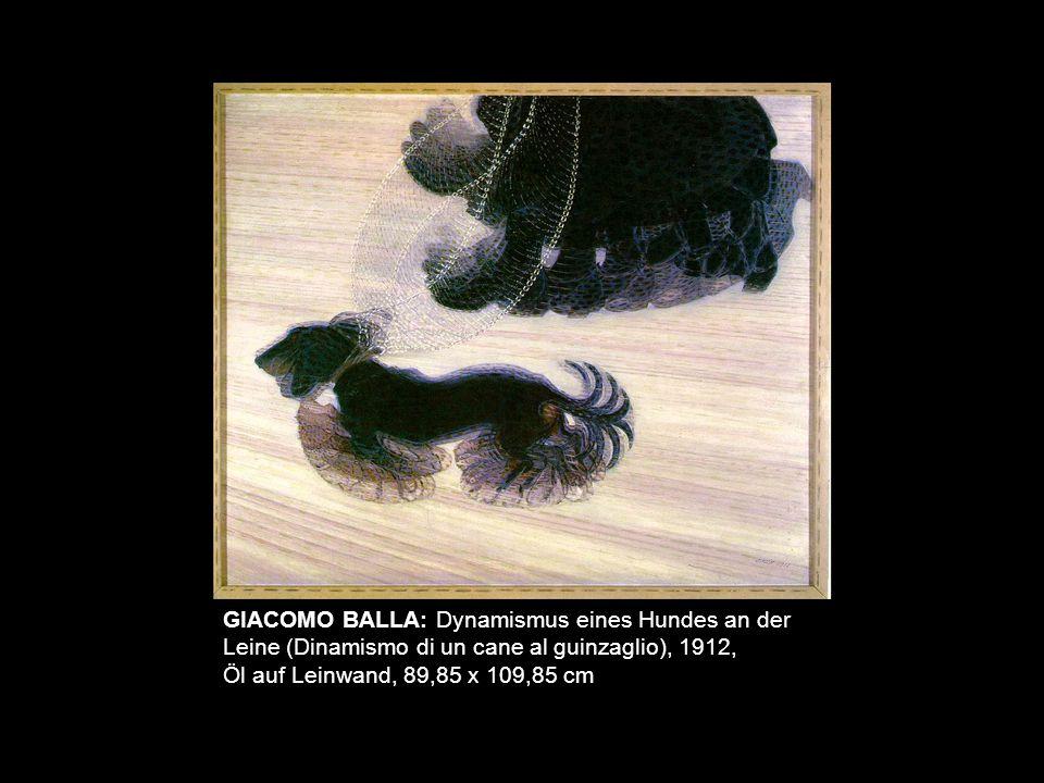 GIACOMO BALLA: Dynamismus eines Hundes an der Leine (Dinamismo di un cane al guinzaglio), 1912,