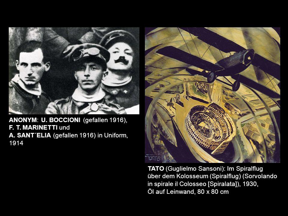 ANONYM: U. BOCCIONI (gefallen 1916),