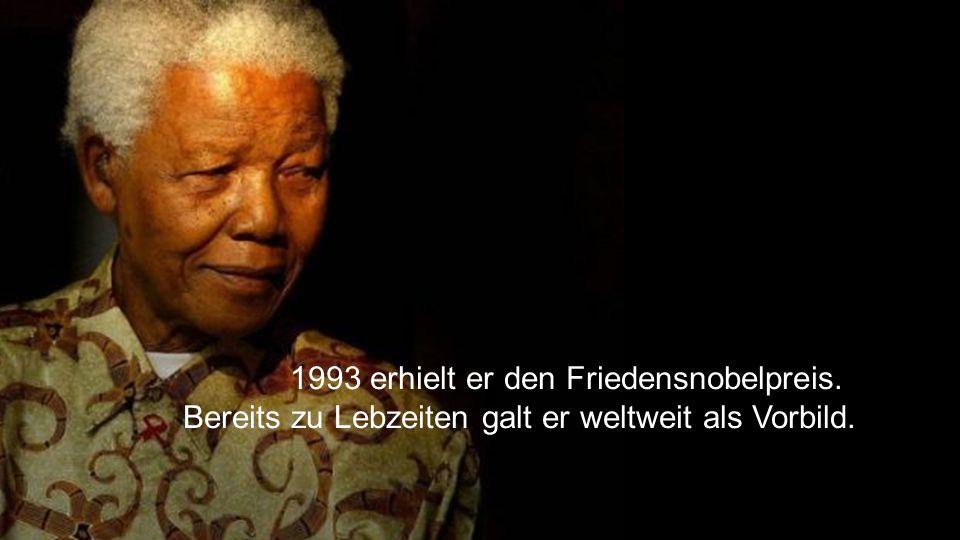 1993 erhielt er den Friedensnobelpreis.