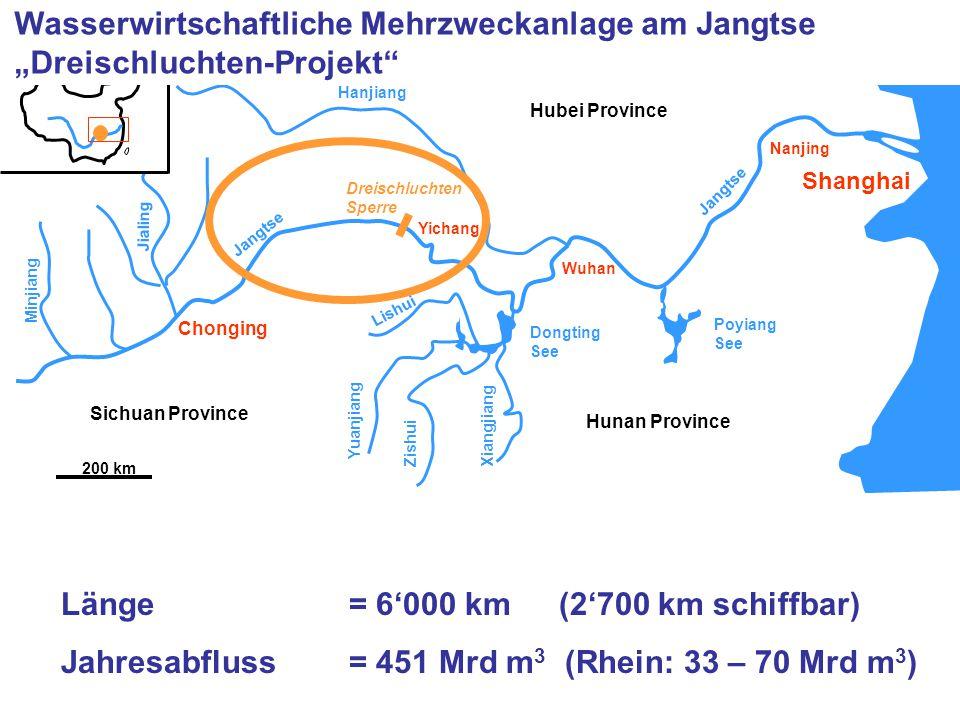 Länge = 6'000 km (2'700 km schiffbar)