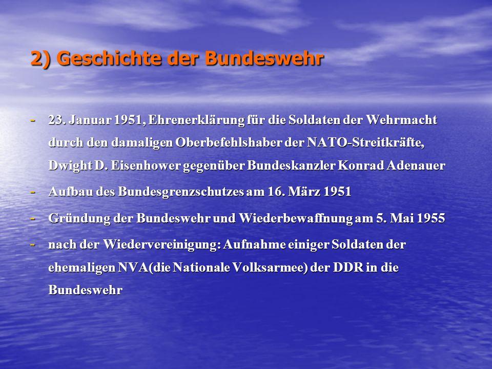 2) Geschichte der Bundeswehr