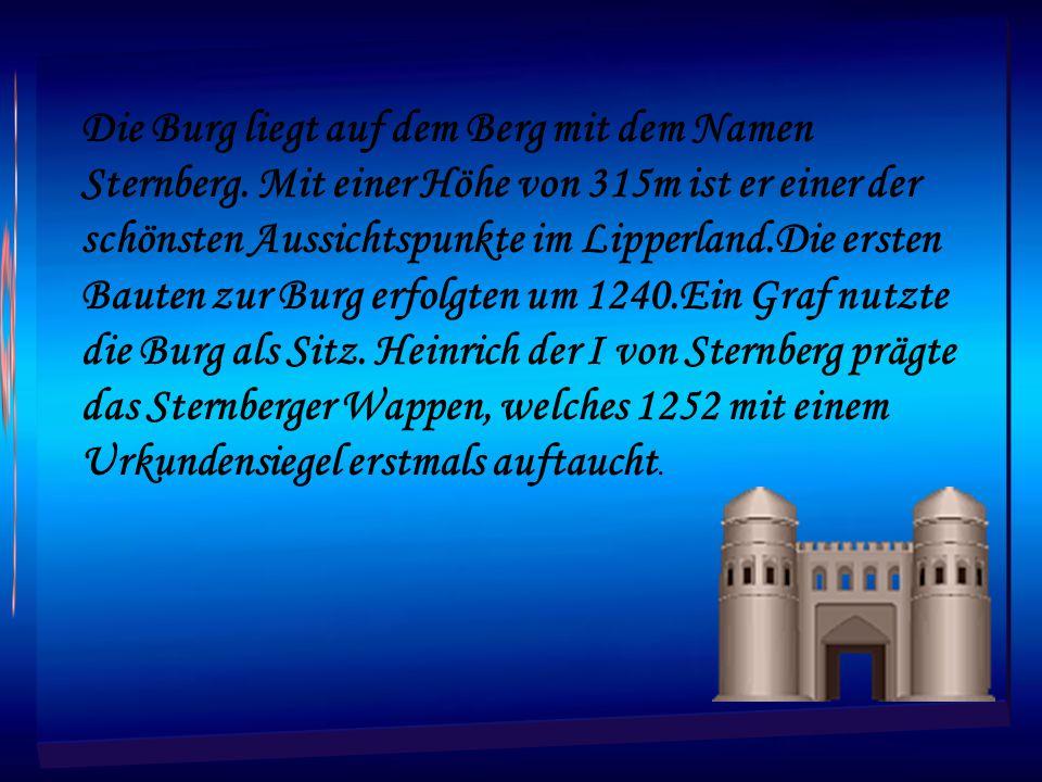 Die Burg liegt auf dem Berg mit dem Namen Sternberg