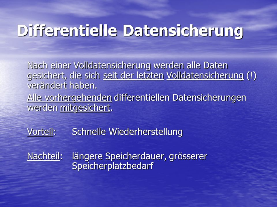 Differentielle Datensicherung