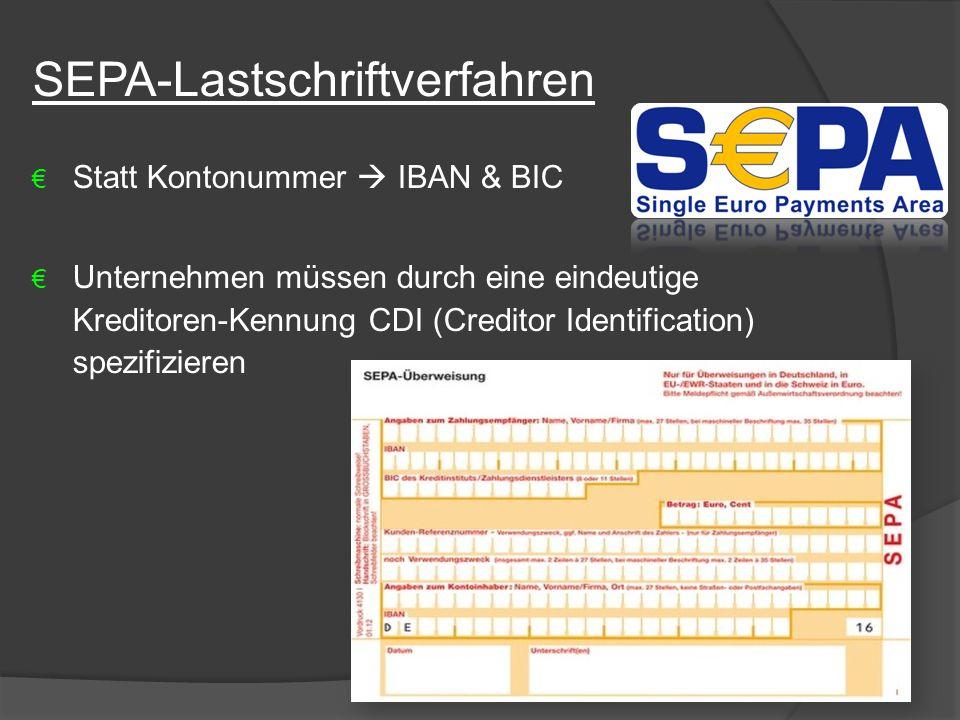 SEPA-Lastschriftverfahren