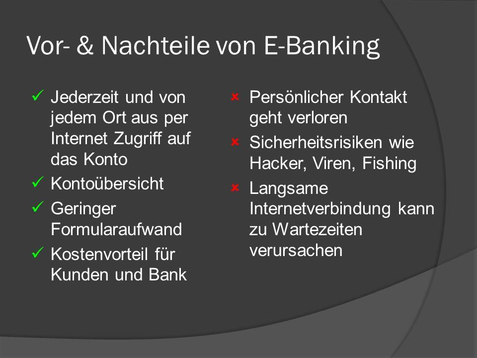 Vor- & Nachteile von E-Banking