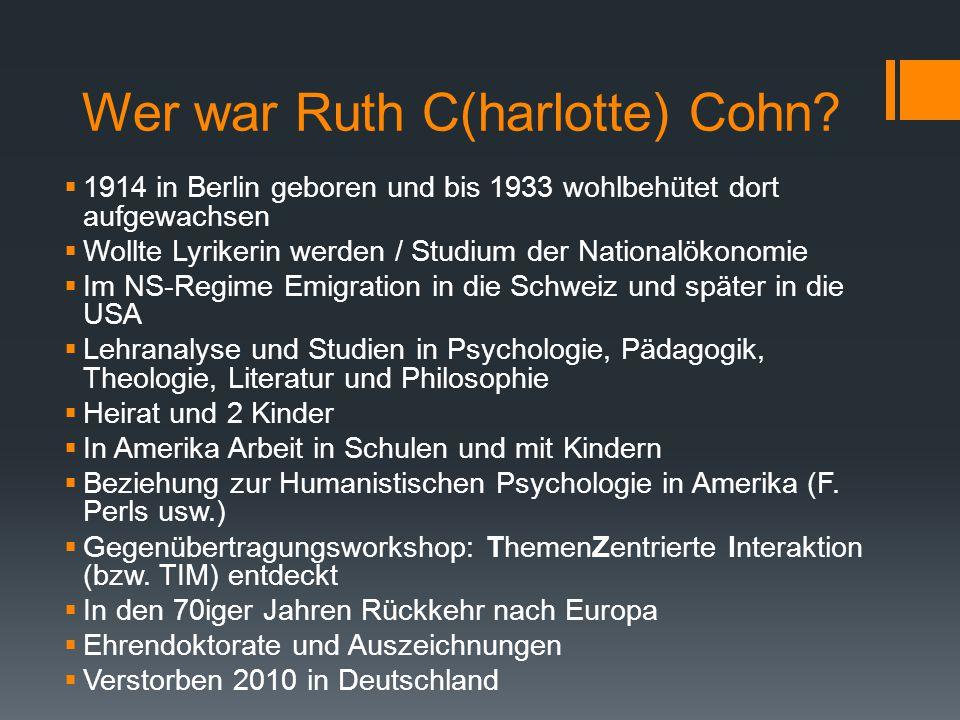 Wer war Ruth C(harlotte) Cohn