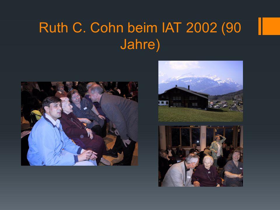 Ruth C. Cohn beim IAT 2002 (90 Jahre)
