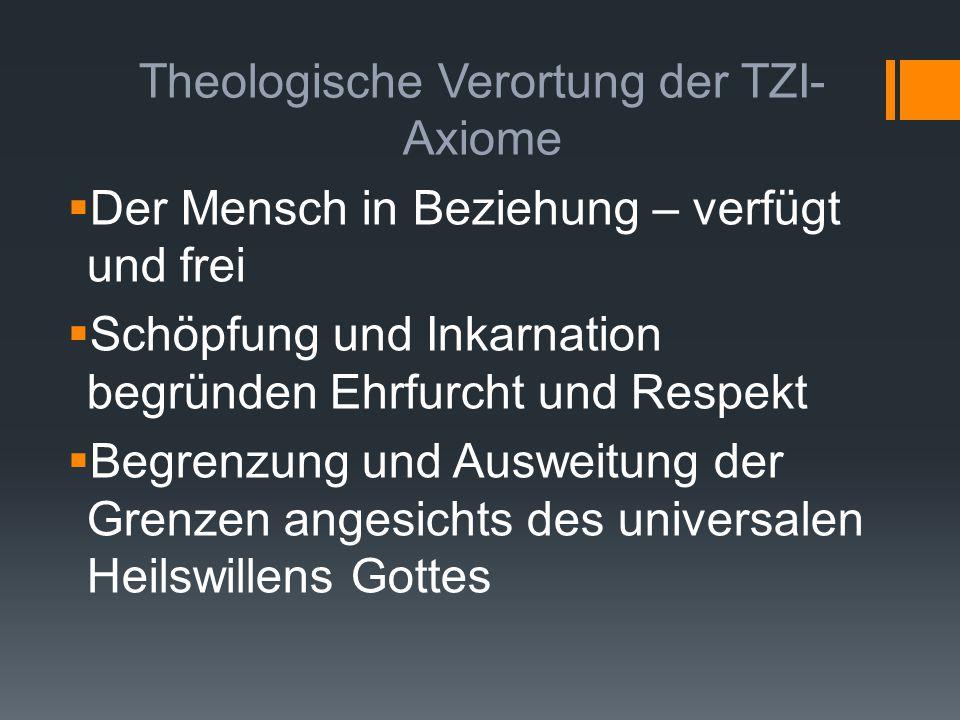 Theologische Verortung der TZI-Axiome