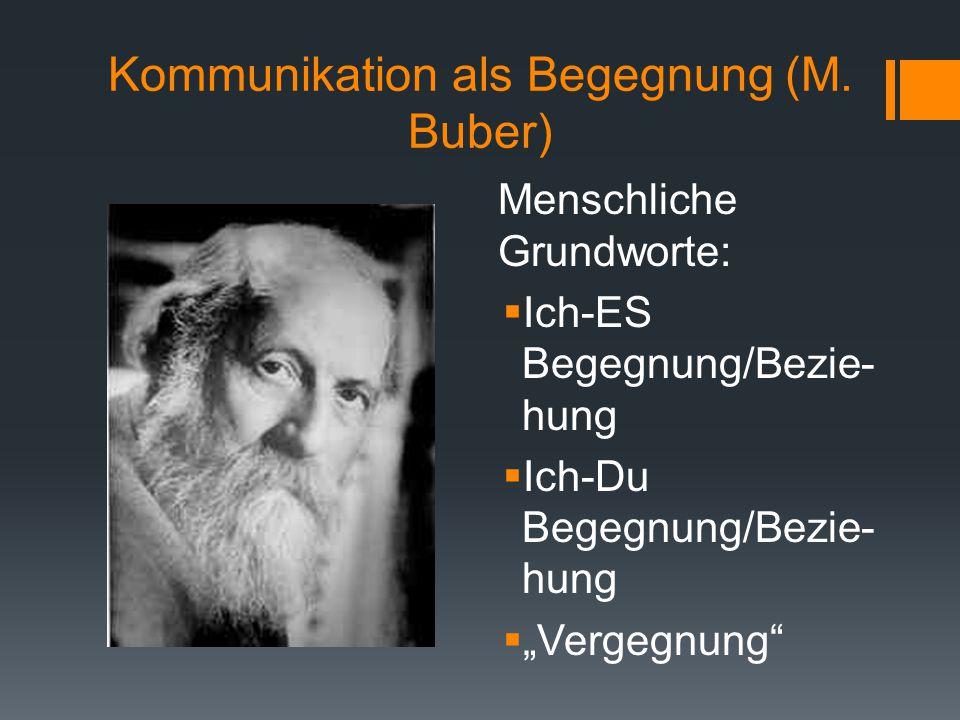 Kommunikation als Begegnung (M. Buber)