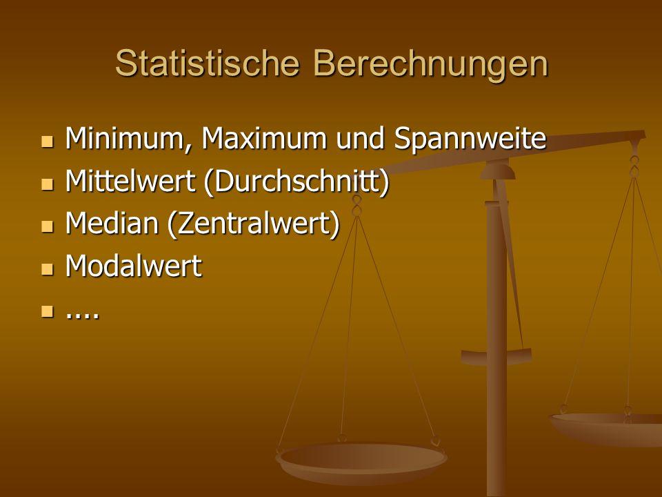 Statistische Berechnungen